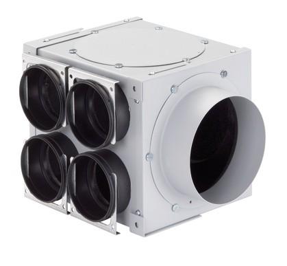 ZE Modul-Verteilkasten 4-fach DN 125, 4 x 90