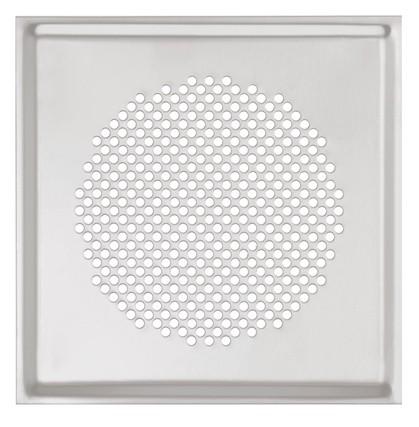 ZE Design-Gitter CLRF/TVA Venezia Edelstahl, 160 x 160mm, Filter