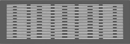 ZE Design-Gitter CLD breit, Genua weiß, 430 x 160 mm
