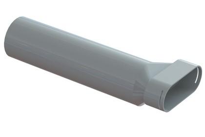 ZE Luftdurchlassgehäuse Renoventil flat Länge 400 mm