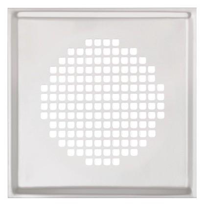 ZE Design-Gitter CLRF/TVA, Torino Edelstahl 160 x 160 mm, Filter
