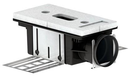 ZE Luftdurchlassgehäuse CLD-P 75 1 x DN 75, strinseitig, h = 115 mm