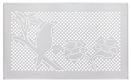 ZE Design-Gitter CLD, Blossom Edelstahl, 260 x 160 mm