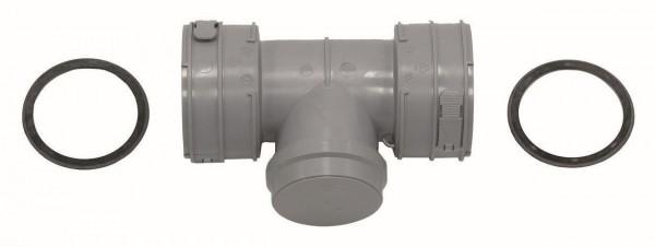 VA Paket Luft-/Abgasführung im Schacht flex.,Anschluss-Set D 60/100 PP (3 Stck)