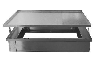 ZE Rahmen mit Deckel Verteiler 4-fach, 50 - 80 mm, Boden