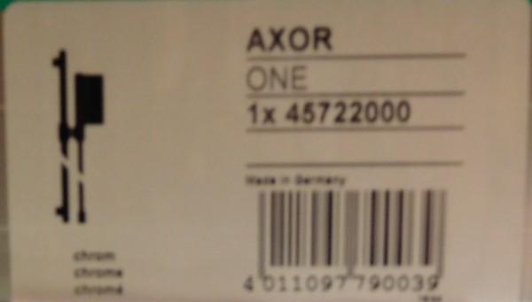 Hansgrohe Axor one Brauseset mit One Handbrause 2 jet Brausestange 0,9 m und Brauseschlauch 45722000