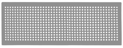 ZE Design-Gitter CLD breit, Torino weiß, 430 x 160 mm
