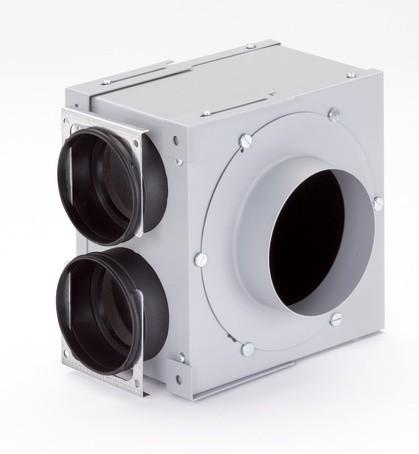 ZE Modul-Verteilkasten 2-fach DN 125, 2 x 90