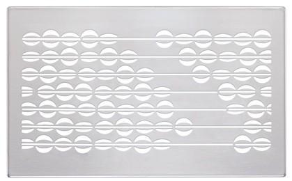 ZE Design-Gitter CLD, Abakus Edelstahl, 260 x 160 mm