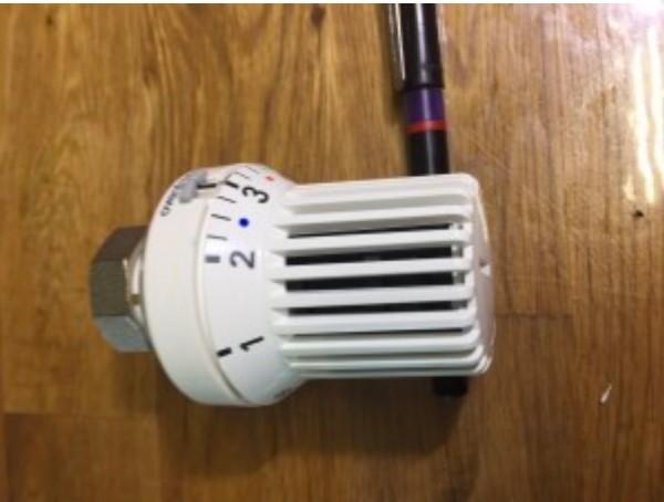 Oventrop Thermostatkopf uni XH weiss mit Nullstellung