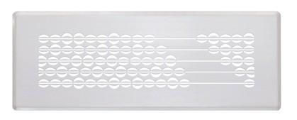 ZE Design-Gitter CLF, Abakus weiß, 350 x 130 mm