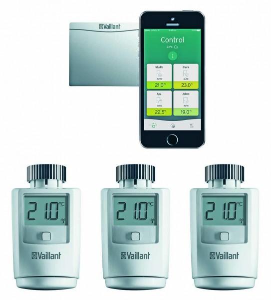 VAILLANT ambiSENSE Starterset Internetmodul 3 x Thermostatventil VR 50