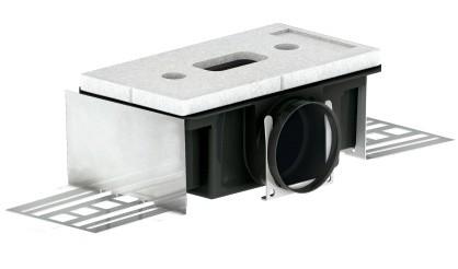 ZE Luftdurchlassgehäuse CLD-P 90 1 x DN 90, seitlich, h = 140 mm