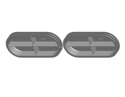ZE Doppelkanalkappe CK 300 für Doppelkanal CK 300