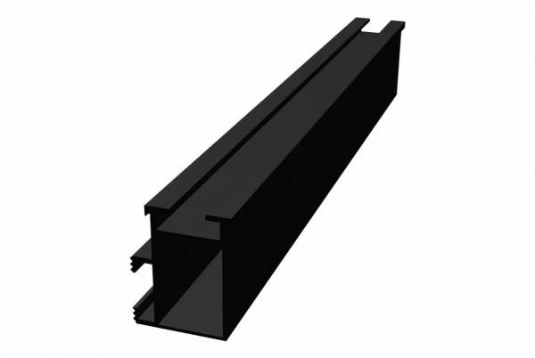 VAILLANT Montageschiene, 47 x 35,4 mm Länge 2.606 mm, schwarz (2 Stück)
