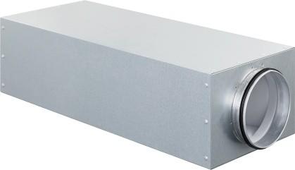 ZE Kastenschalldämpfer CSI 350 DN 125, Länge = 700 mm zentrisch