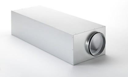 ZE Kastenschalldämpfer CSI 550 DN 180, Länge = 900 mm exzentrisch