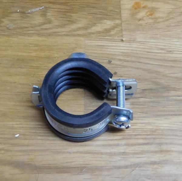 Rohrschelle Speedy 25 - 28 mm mit Gummieinlage