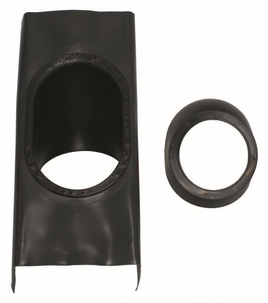 VA Paket Luft-/Abgasführung, senkrechte Dachdurchf. schwarz,D 60/100 PP (3 Stck)
