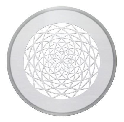 ZE Design-Gitter CLRF/TVA, Sans soucis Edelstahl, D = 160 mm, Filter