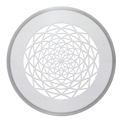 ZE Design-Gitter CLRF/TVA, Sans soucis weiß, D = 160 mm, Filter